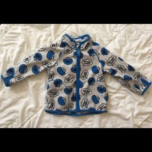 H&M Cookie Monster Zip Up Sweater